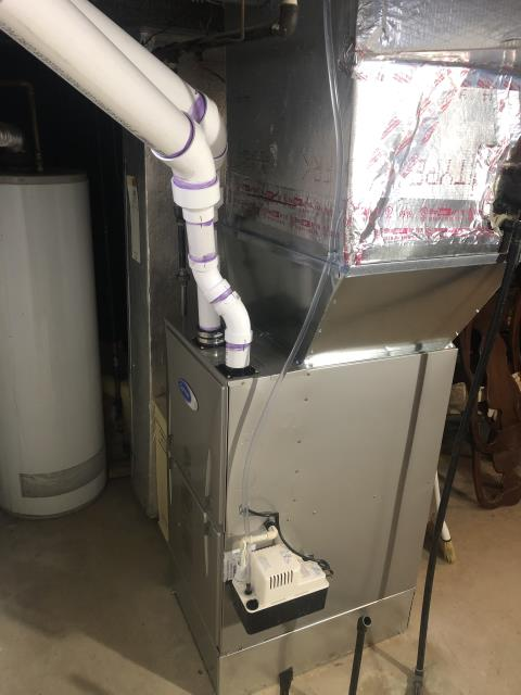 Performed An Installation Inspection On Carrier Gas Furnace 96% Variable Speed Two-Stage 100,000 BTU To Keep Furnace Running At Highest Performance For The Winter Season