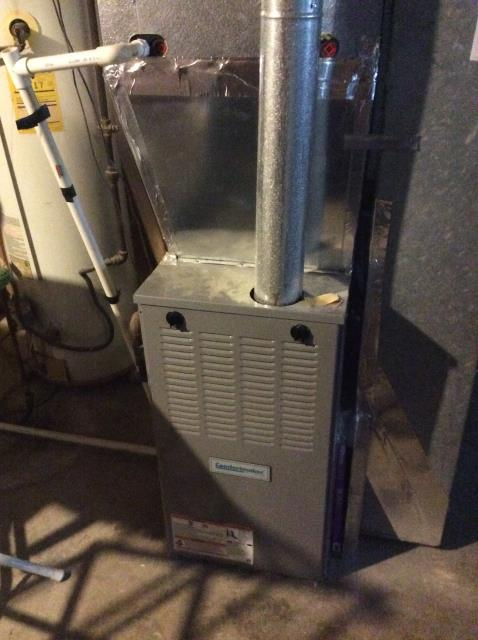 Groveport, OH - Performed fall tuneup and safety inspection on Comfortmaker gas furnace. All was operating according to manufacturer's specifications and is ready to heat this winter season.