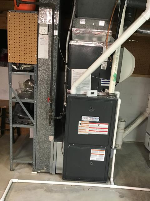 Reynoldsburg, OH - Furnace tune - up and safety check performed on a Goodman Gas furnace unit. Confirmed that the system is working within manufacturer specifications.  Pictured is the Customer's Goodman Gas Furnace Unit.