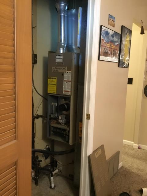 Reynoldsburg, OH - One of our talented technicians went to the customer's home to continue a previous job on an Armstrong Gas Furnace.  Pictured is the customer's Armstrong Gas Furnace.