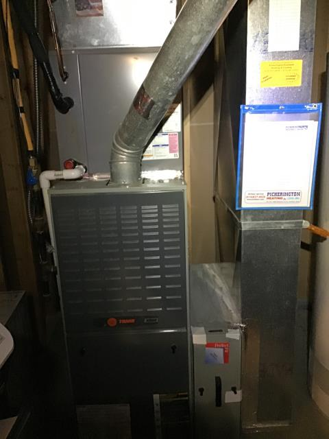 Pickerington, OH - Performed Our Special Tune-Up & Safety Checkout On Trane  Gas Furnace To Keep Furnace Running At Highest Performance For The Winter Season