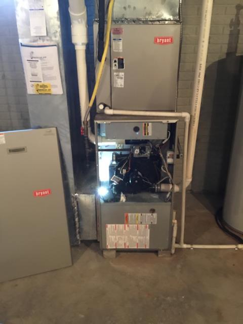 Pickerington, OH - Performed Our Special Tune-Up & Safety Checkout On  Bryant Gas Furnace To Keep Furnace Running Efficiently For The Winter Season