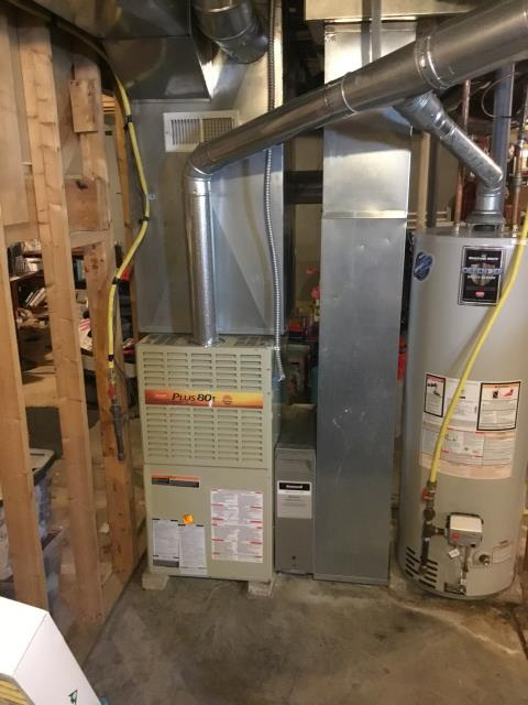 New Albany, OH - Performed Our Special Tune-Up & Safety Checkout On Bryant Gas Furnace To Keep Furnace Running At Highest Performance For The Winter Season