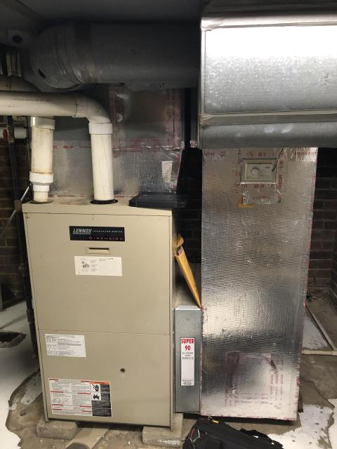 Pleasantville, OH - I Performed Our Special Tune-Up & Safety Checkout on a Lennox Gas  Furnace To Keep Furnace Running At Highest Performance For The Winter Season