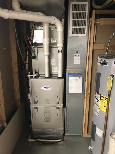 Pataskala, OH - Diagnostic Performed Sealed Floor Drain Just Out From Filter Rack On Carrier Gas Furnace To Keep Furnace Running Efficiently For The Winter Season
