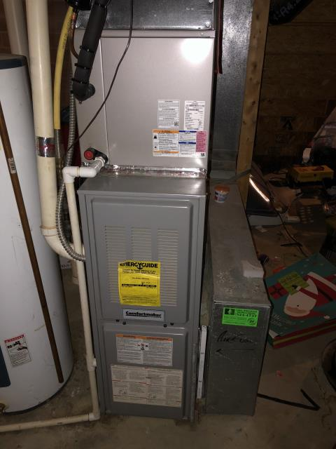 Pataskala, OH - Diagnostic Performed Recommended Replacing  OEM 90% AFUE Furnace Inducer Motor On Comfortmaker Gas Furnace To Keep Furnace Running Efficiently For The Winter Season