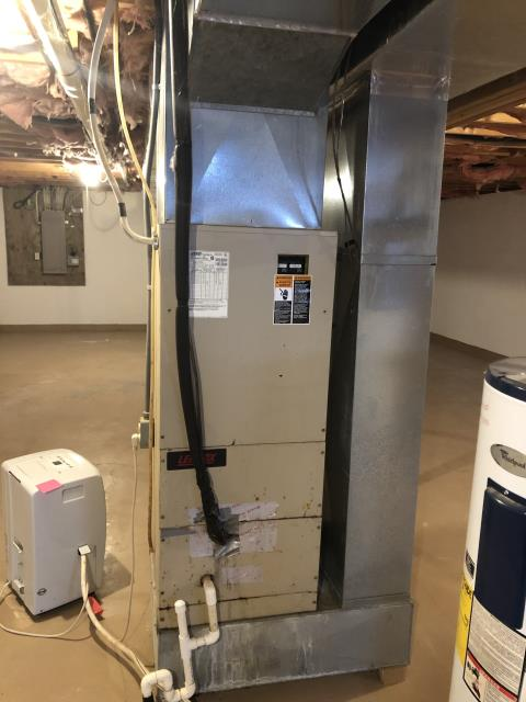 Somerset, OH - Provided Estimate New Carrier Variable Speed 4 Ton Electric Furnace / Fan Coil & New  Carrier up to 16 SEER 3 Ton Heat Pump To Replace Existing Lennox Electric Furnace &  Heat Pump