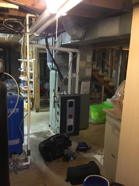 New Albany, OH - Performed Our Special Tune-Up & Safety Checkout On a Tranne Gas Furnace To Keep Furnace Running At Highest Performance For The Winter Season