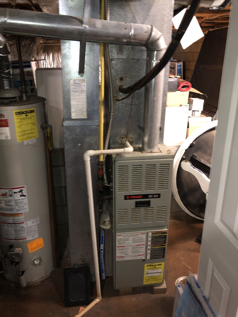 Westerville, OH - Performed Our Special Tune-Up & Safety Checkout On a Trane Gas Furnace To Keep Furnace Running At Highest Performance For The Winter Season
