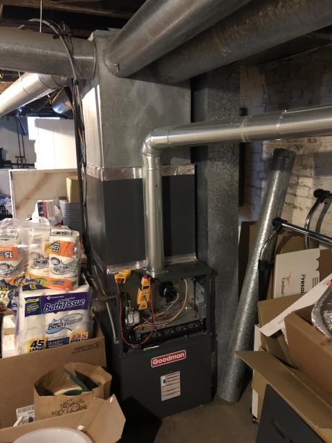 Bexley, OH - Performed Our Special Tune-Up & Safety Checkout On a Goodman  Gas Furnace To Keep Furnace Running At Highest Performance For The Winter Season