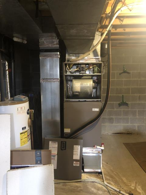 Dublin, OH - Performed An Installation Inspection On Carrier Gas Furnace To Keep Furnace Running Efficiently For The Winter Season