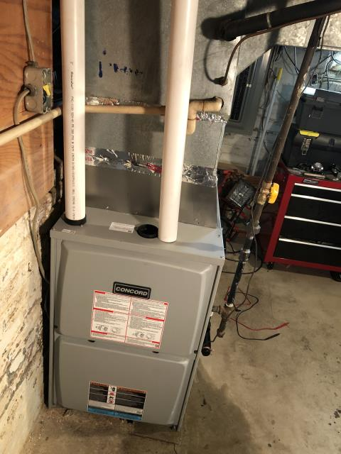 Lancaster, OH - Performed Our Special Tune-Up & Safety Checkout On a Concord Gas Furnace To Keep Furnace Running At Highest Performance For The Winter Season