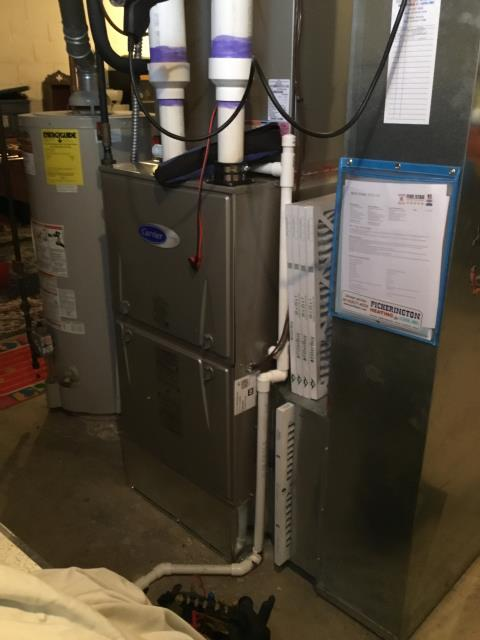 Pickerington, OH - 	Performed Our Special Tune-Up & Safety Checkout On a Carrier  Gas Furnace To Keep Furnace Running At Highest Performance For The Winter Season