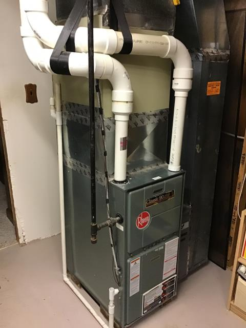 Pickerington, OH - Performed Our Special Tune-Up & Safety Checkout On a Rheem  Gas Furnace To Keep Furnace Running At Highest Performance For The Winter Season