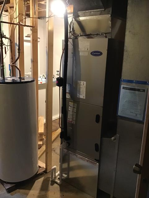 Pickerington, OH - Performed Our Special Tune-Up & Safety Checkout On a Carrier Electric Furnace To Keep Furnace Running At Highest Performance For The Winter Season