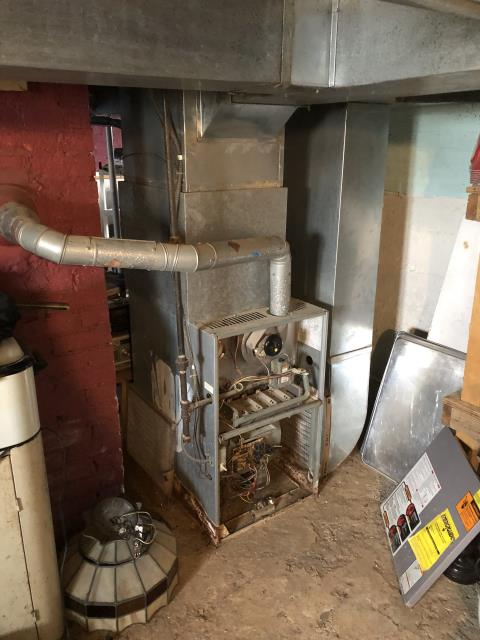 Groveport, OH - I Found a Weather king  furnace locked out on roll out switch. Reset switch and furnace came on with flames rolling out of burners. Performed combustion test on furnace and got of 1700 ppm of CO before pulling meter. Removed Exhaust to make sure their were no blockages. Found exhaust clear. Shut furnace off and gave a quote for a new furnace due to age of the furnace