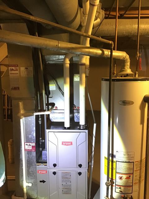 Dublin, OH - Performed Our Special Tune-Up & Safety Checkout On a Bryant Gas Furnace To Keep Furnace Running At Highest Performance For The Winter Season