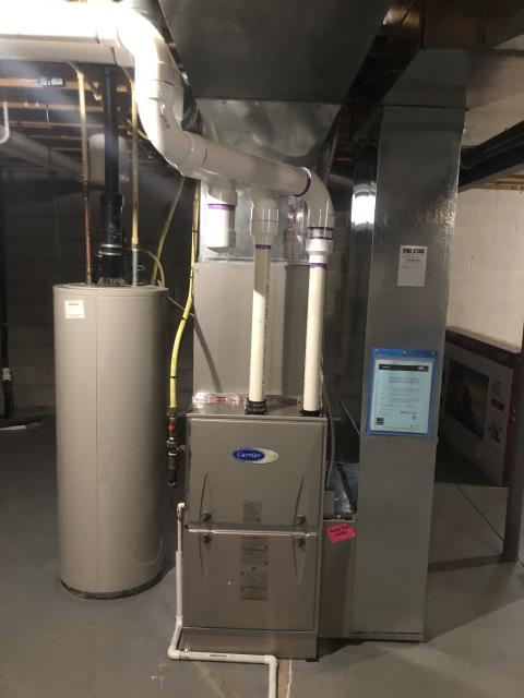Lewis Center, OH - I did a Installation Inspection on a Carrier Gas Furnace 96% Variable Speed Two-Stage 100,000 BTU & Carrier up to 16 SEER 3.5 Ton Air Conditioner   82818