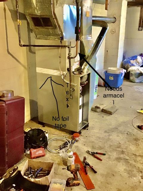 Columbus, OH - I inspected the newly installed Carrier 80% 45,000 BTU Gas Furnace & Carrier 13 SEER 2 Ton Air Conditioner .