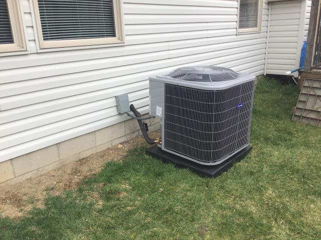 Groveport, OH - I installed a new Carrier 96% Two-Stage 60,000 BTU Gas Furnace & Carrier 16 SEER 2.5 Ton Air Conditioner.