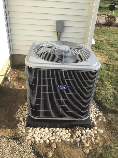 Grove City, OH - I went back to the residence to connect  Carrier AC that wasn't completed during install due to it being to cold.