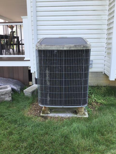 Carroll, OH - Wearing mask and gloves and keep activity in the home to a minimum, I Performed A/C tune-up on a 2019 Carrier Heat Pump. System is now running a peak performance.