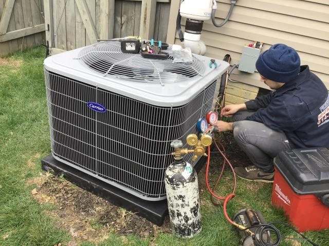 Reynoldsburg, OH - Wearing mask and gloves and keep activity in the home to a minimum, I Performed a Installation Inspection on a Carrier 96% Two-Stage 80,000 BTU Gas Furnace & Carrier 16 SEER 3 Ton Air Conditioner