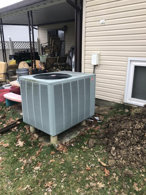 Reynoldsburg, OH - Wearing mask and gloves and keep activity in the home to a minimum, I Performed A/C tune-up on a 2006 Rheem unit. System is now running a peak performance.