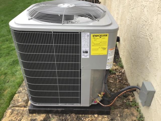 Westerville, OH - Wearing mask and gloves and keep activity in the home to a minimum, I Performed a Installation Inspection on a  Carrier 96% Two-Stage 80,000 BTU Gas Furnace & Carrier 16 SEER 3.5 Ton Air Conditioner