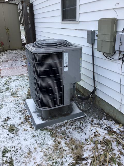 Lancaster, OH - Wearing mask and gloves and keep activity in the home to a minimum, I Performed Heat Pump tune-up on a 2017 Carrier unit. System is now running a peak performance.