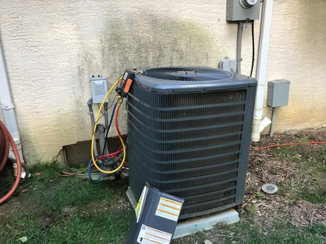 Columbus, OH - Wearing mask and gloves and keep activity in the home to a minimum, I Performed A/C tune-up on a 2015 Goodman unit. System is now running a peak performance.
