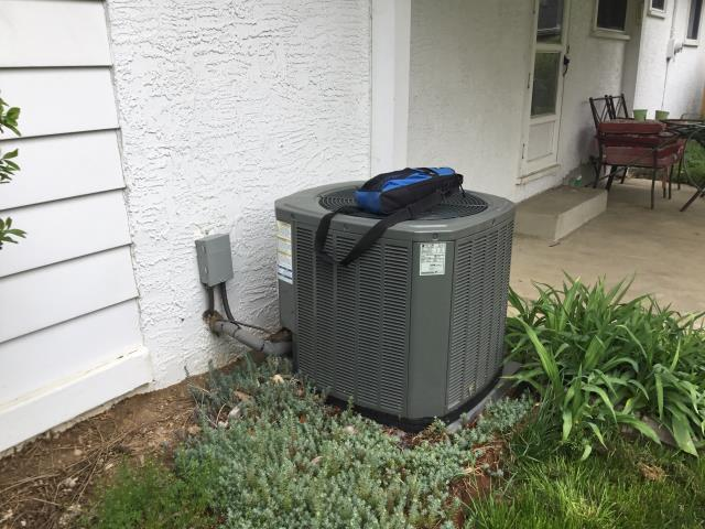 Columbus, OH - Following COVID-19 Protocol, wearing mask and gloves and keep activity in the home to a minimum, I Performed A/C tune-up on a 2017 Trane Air Conditioner . System is now running a peak performance.