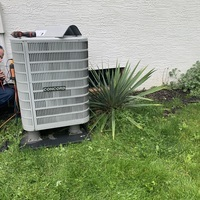 Pataskala, OH - Concord heat pump found locked out on low pressure. Checked low pressure sensor-good. Reset code and gauges up, cycled system in heating mode. Pressures still good. Advised homeowner we will need to come back on a warmer day if system faults again.