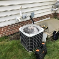 New Albany, OH - Bryant A/C low on charge, and burn marks with pitting found on contactor. Advised homeowner unit has possible leak with unit being low on refrigerant. Quotes provided to replace with new equipment or repair current unit.