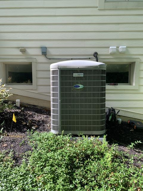 Blacklick, OH - Tuneup and safety check on Carrier AC. The system is cooling properly.
