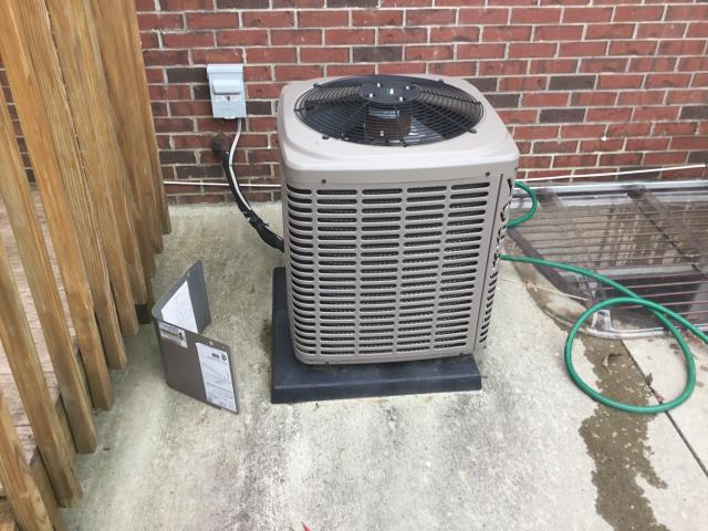 New Albany, OH - Tuneup and safety check on York AC. Unit is cooling properly at this time.
