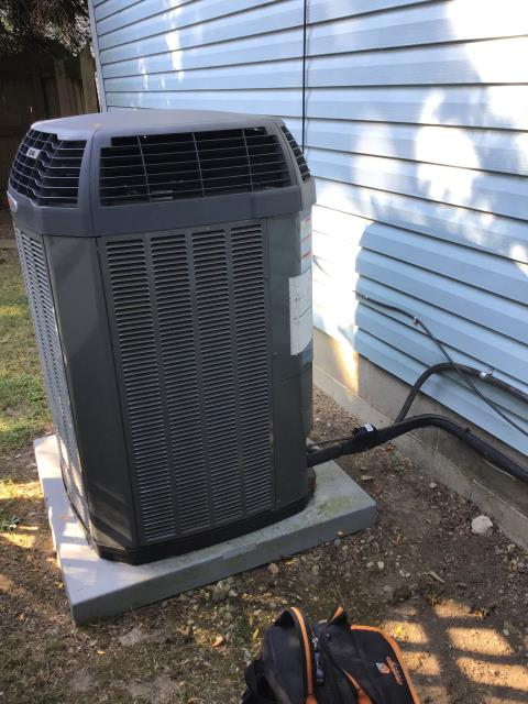 Hilliard, OH - Tuneup and safety check on Trane AC. All checks are good at this time.