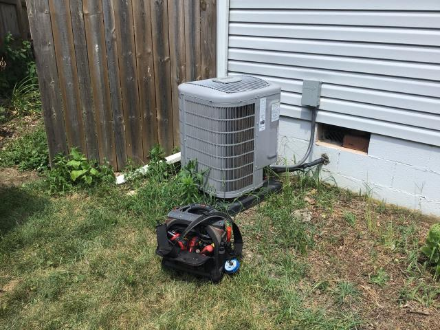 New Albany, OH - Found faulty blower motor and capacitor on Bryant AC. Part has been ordered and will return to install at arrival.