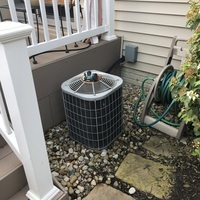 Westerville, OH - Tune up/ Cleaning on 2005 Carrier model air conditioning unit. When technician arrived, he checked to ensure the unit was within manufacture specifications. Upon departure, unit was cooling properly. Discussed scheduled maintenance agreement with customer.