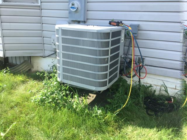 Reynoldsburg, OH - Customer stated the 2012 Concord system wasn't cooling properly. Found system on low pressure lockout. Added 1.5 lbs of R410-A.