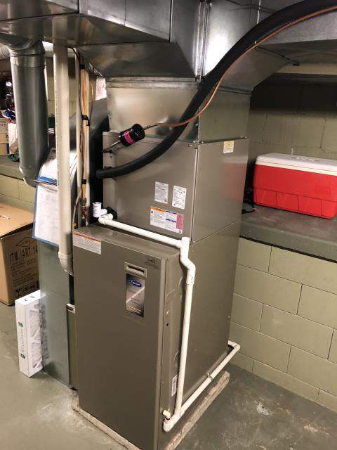 Worthington, OH - 	I am Performing our Five Star Tune-Up & Safety Check on a  2019 Carrier Gas Furnace. All readings were within manufacturer's specifications, unit operating properly at this time.
