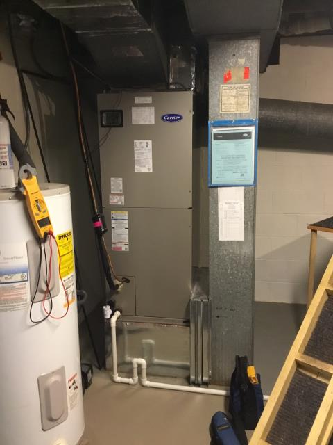 Gahanna, OH - 	I am Performing our Five Star Tune-Up & Safety Check on 2018 Carrier  Gas Furnace. All readings were within manufacturer's specifications, unit operating properly at this time.