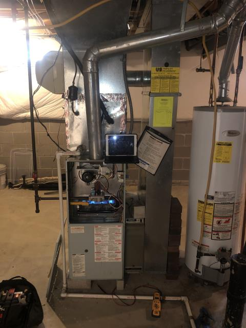New Albany, OH - I performed a Air duct cleaning that helps to eliminating dust, mold and other contaminants from your heating and air conditioning system ductwork