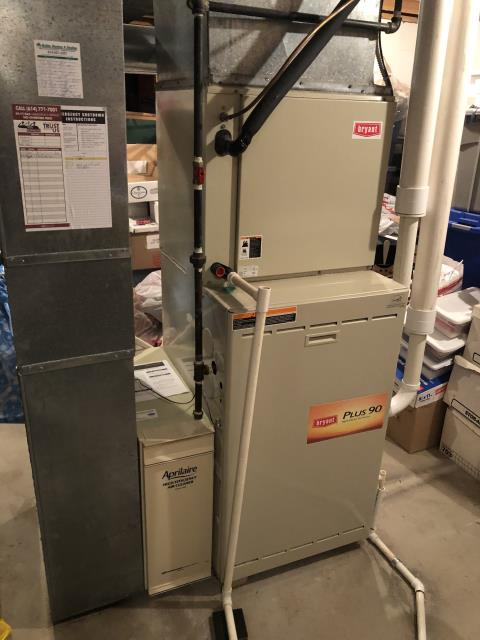 Dublin, OH - I am Performing our Five Star Tune-Up & Safety Check on a 2020 Carrier  Gas Furnace. All readings were within manufacturer's specifications, unit operating properly at this time.