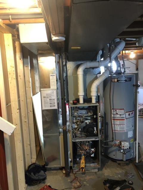 Sunbury, OH - I am Performing our Five Star Tune-Up & Safety Check on a  2010 Trane Propane Furnace. All readings were within manufacturer's specifications, unit operating properly at this time.