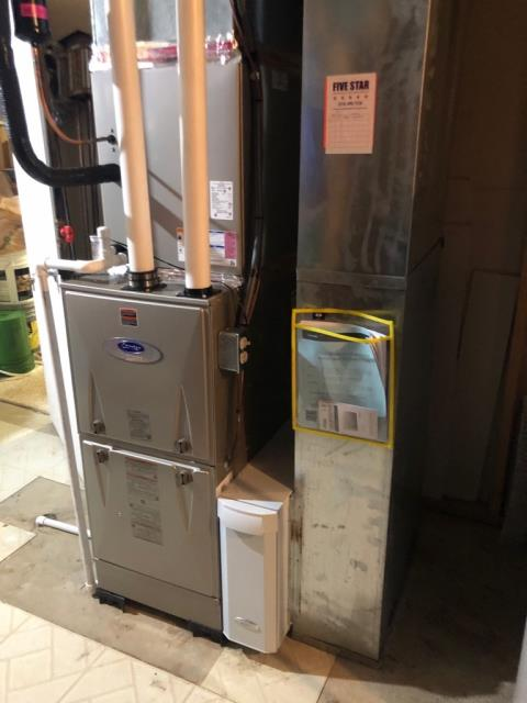 Sunbury, OH - I am Performing our Five Star Tune-Up & Safety Check on a  2020 Carrier Gas Furnace.  All readings were within manufacturer's specifications, unit operating properly at this time.