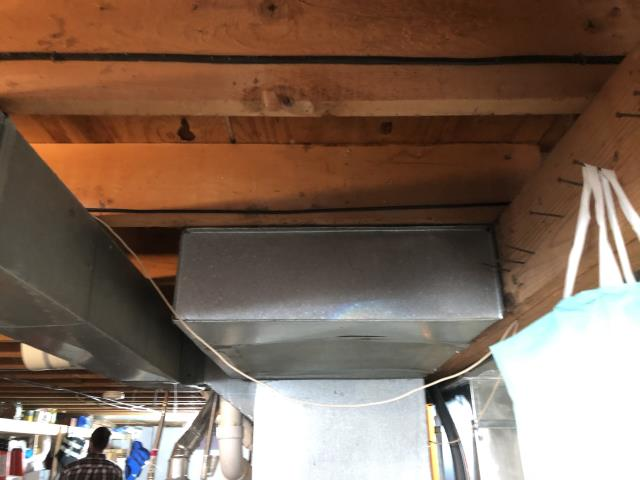 Sunbury, OH - Add a supply duct to a room in the basement.