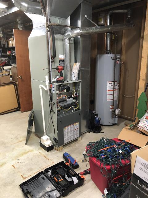 Sunbury, OH - I completed a tune up on a Trane gas furnace.  I visually inspected the unit.  I cleaned the flame sensor.  Checked voltages, amps and pressures.  Completed combustion analysis.  Cycled and monitored system.  Operating normally at this time.