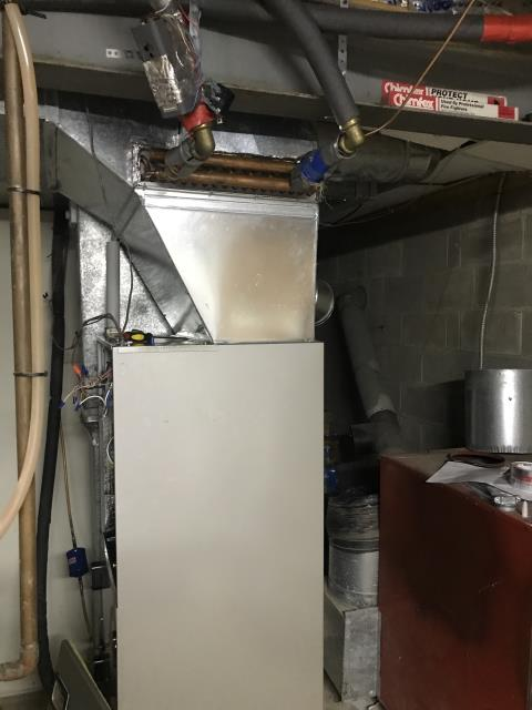 Johnstown, OH - I performed a tune-up and safety check under a scheduled maintenance agreement on a 2018 Carrier Electric furnace.