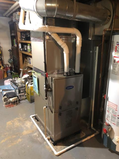 Hilliard, OH - I performed a tune-up and safety check under a service maintenance agreement for a 2020 Carrier gas furnace.